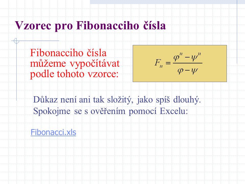 Vzorec pro Fibonacciho čísla
