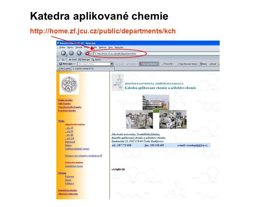 Katedra aplikované chemie