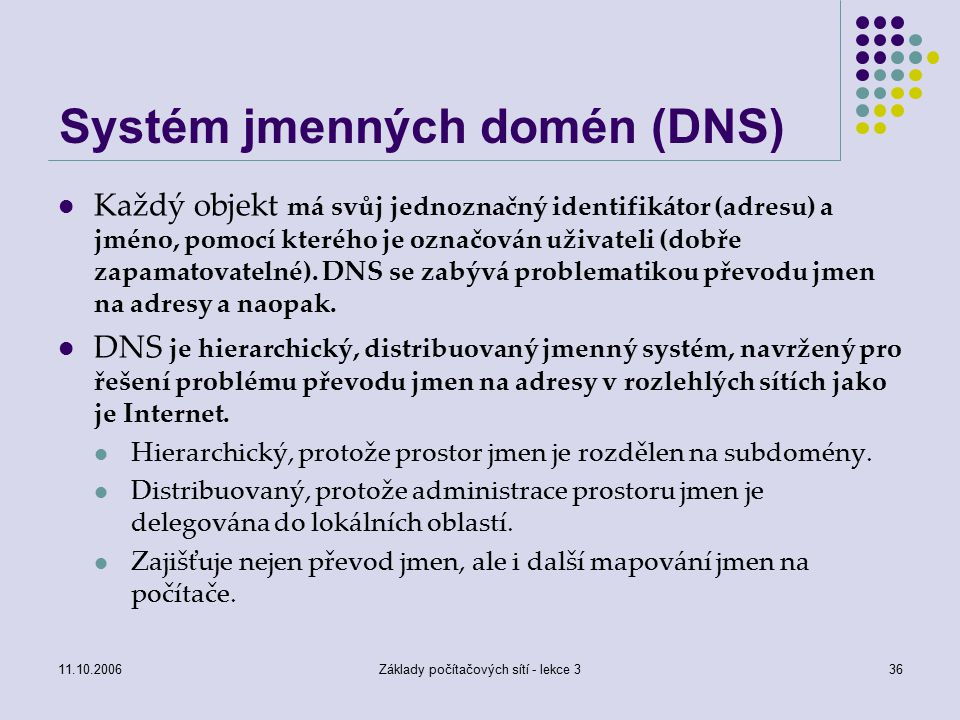 Systém jmenných domén (DNS)