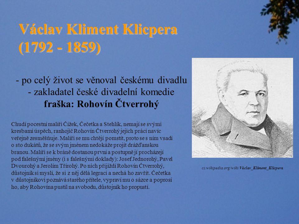 Václav Kliment Klicpera (1792 - 1859)