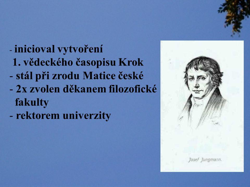 1. vědeckého časopisu Krok stál při zrodu Matice české
