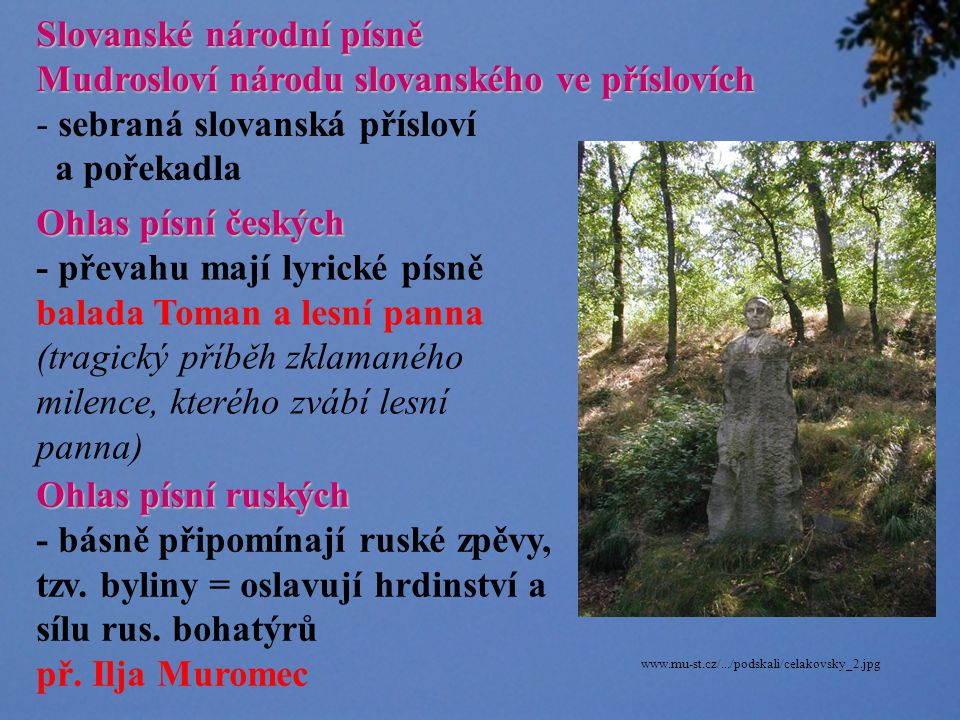 Slovanské národní písně Mudrosloví národu slovanského ve příslovích