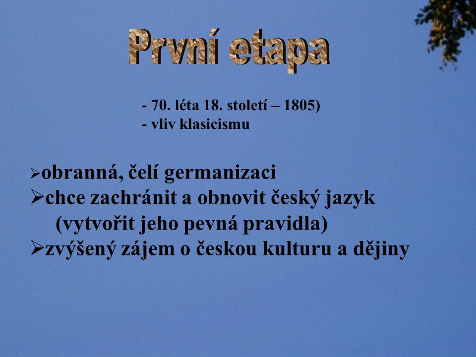 První etapa chce zachránit a obnovit český jazyk