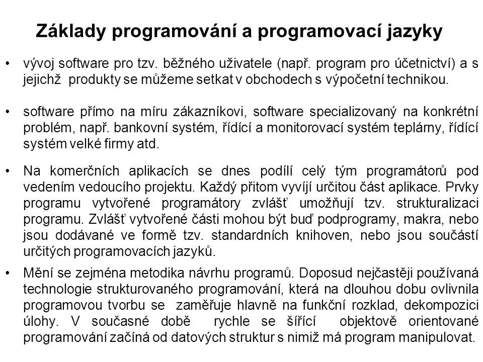Základy programování a programovací jazyky