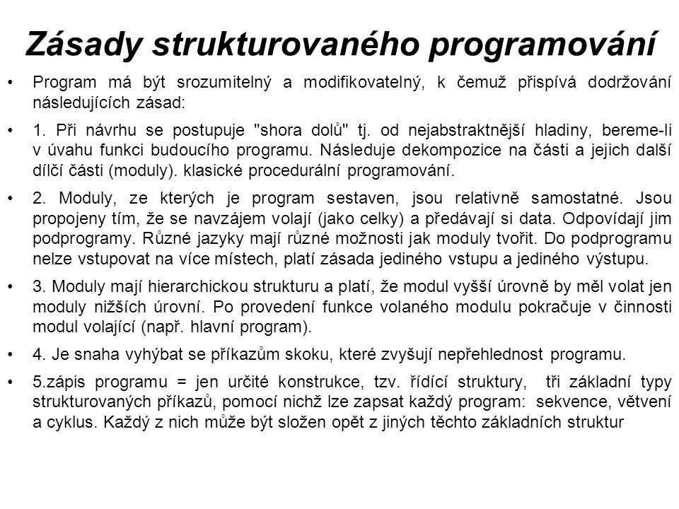 Zásady strukturovaného programování