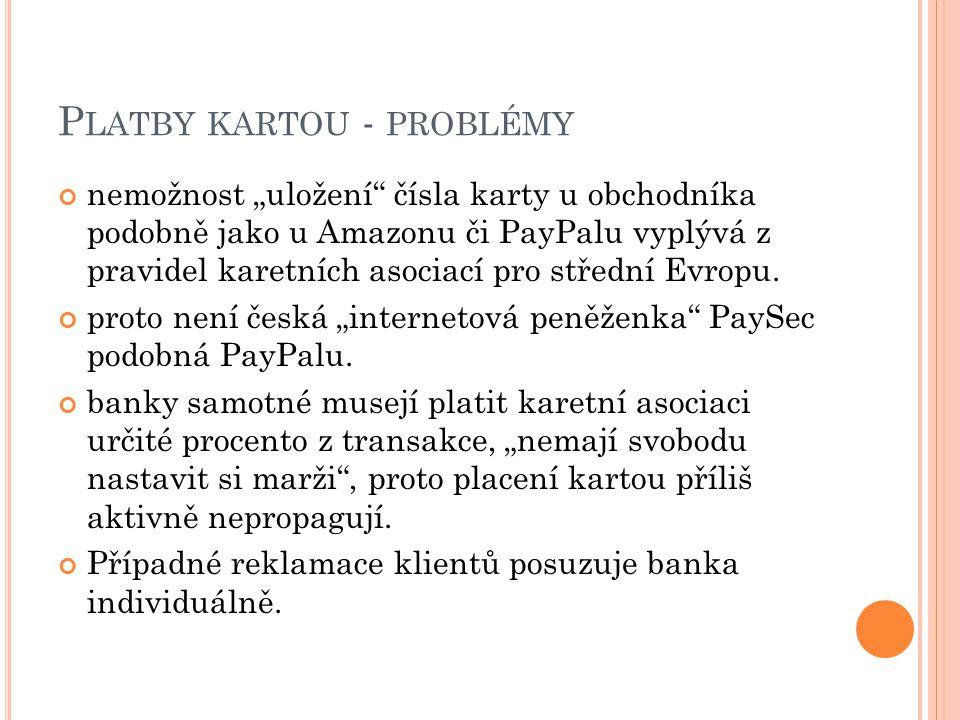Platby kartou - problémy