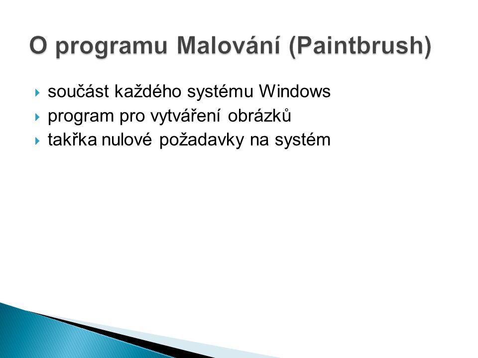 O programu Malování (Paintbrush)