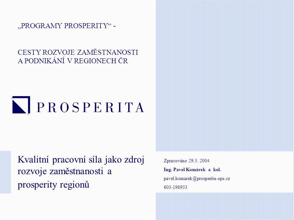 """""""PROGRAMY PROSPERITY -"""