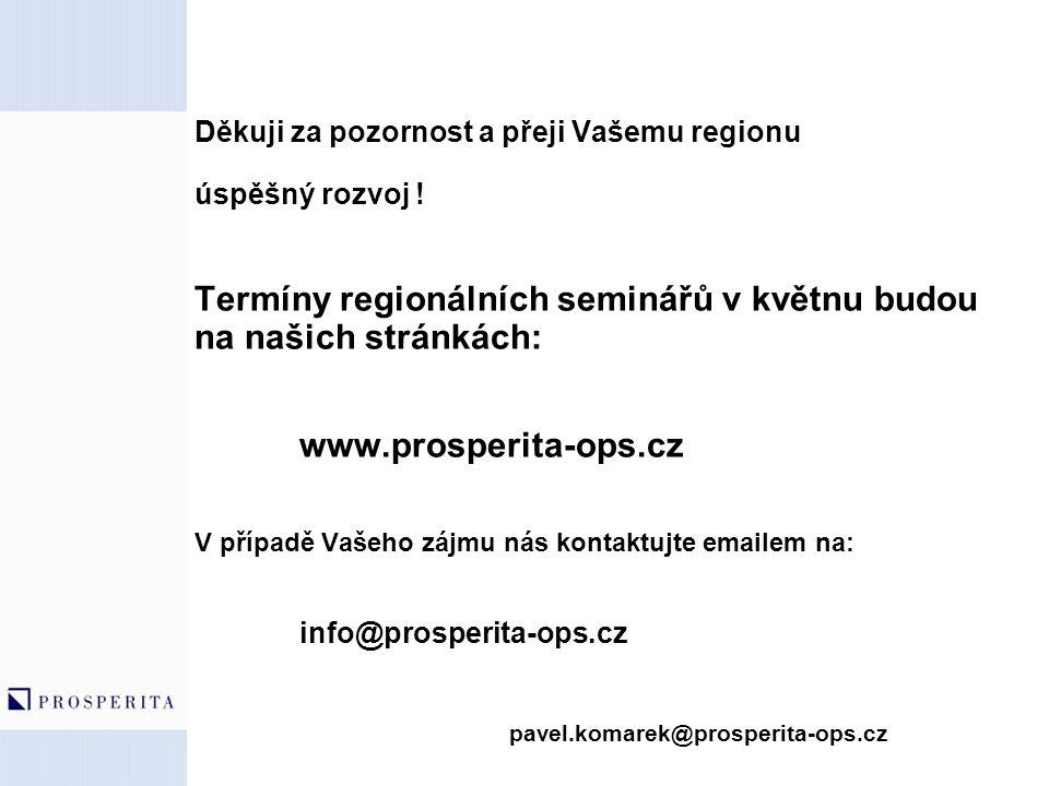 Termíny regionálních seminářů v květnu budou na našich stránkách: