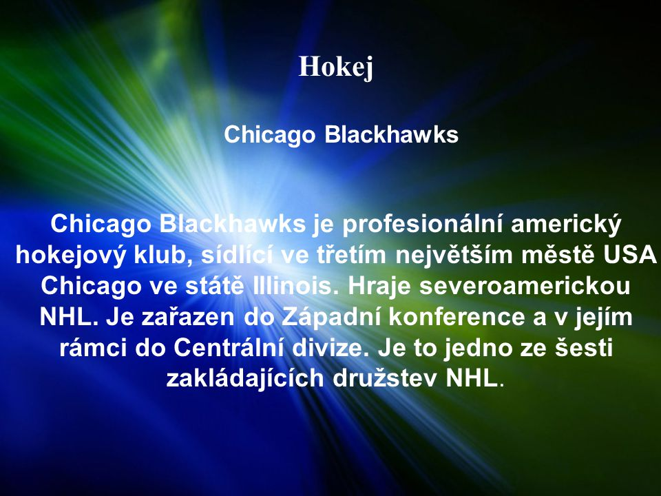 Hokej Chicago Blackhawks.