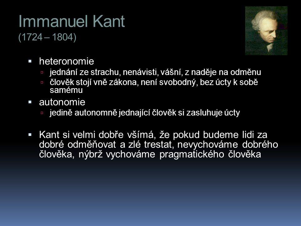 Immanuel Kant (1724 – 1804) heteronomie autonomie