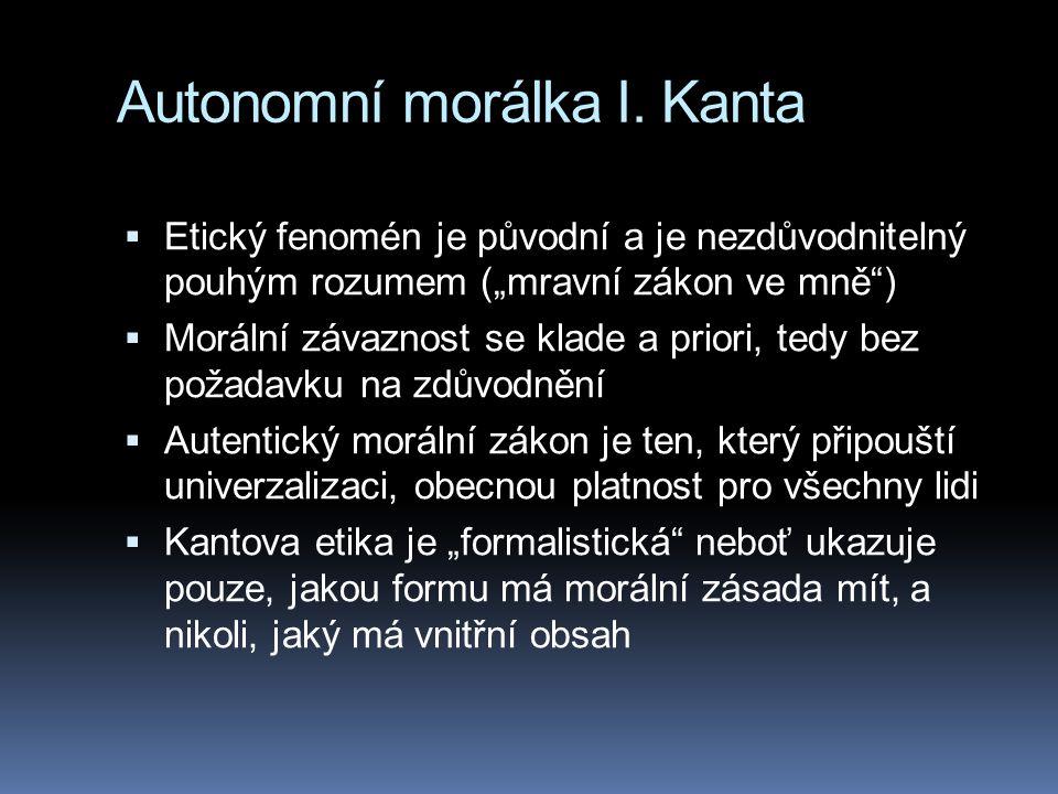 Autonomní morálka I. Kanta