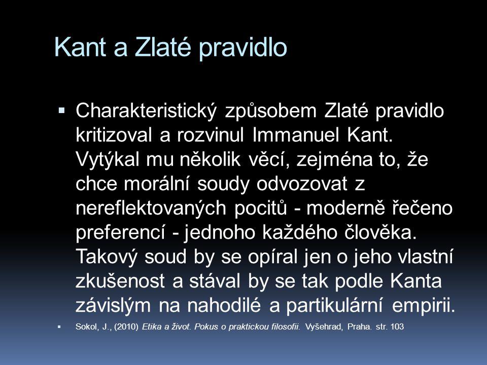 Kant a Zlaté pravidlo