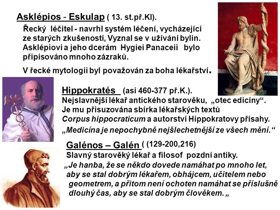 Asklépios - Eskulap ( 13. st.př.Kl).
