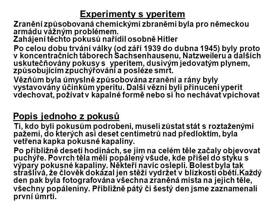Experimenty s yperitem