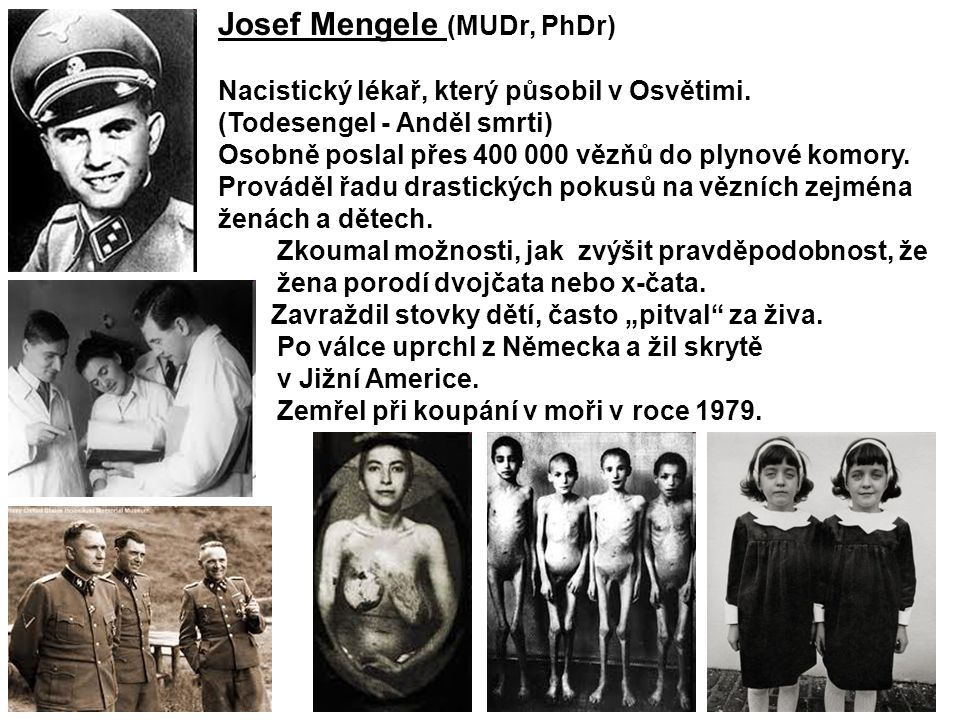 Josef Mengele (MUDr, PhDr)