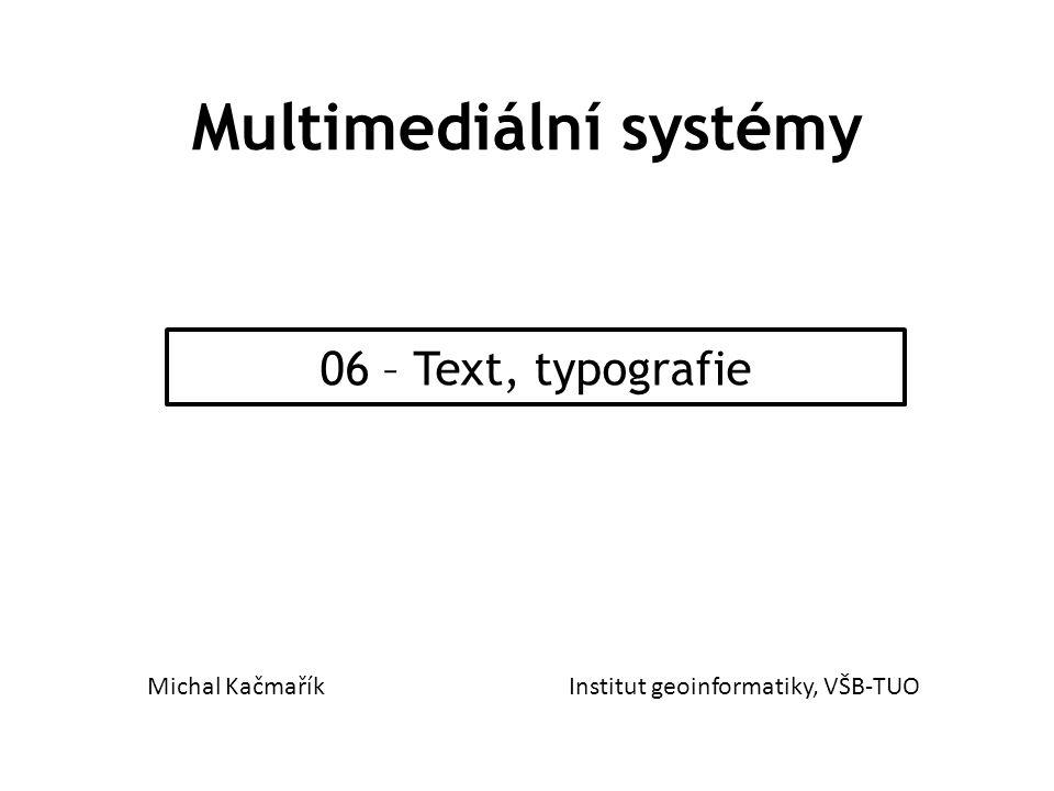 Multimediální systémy