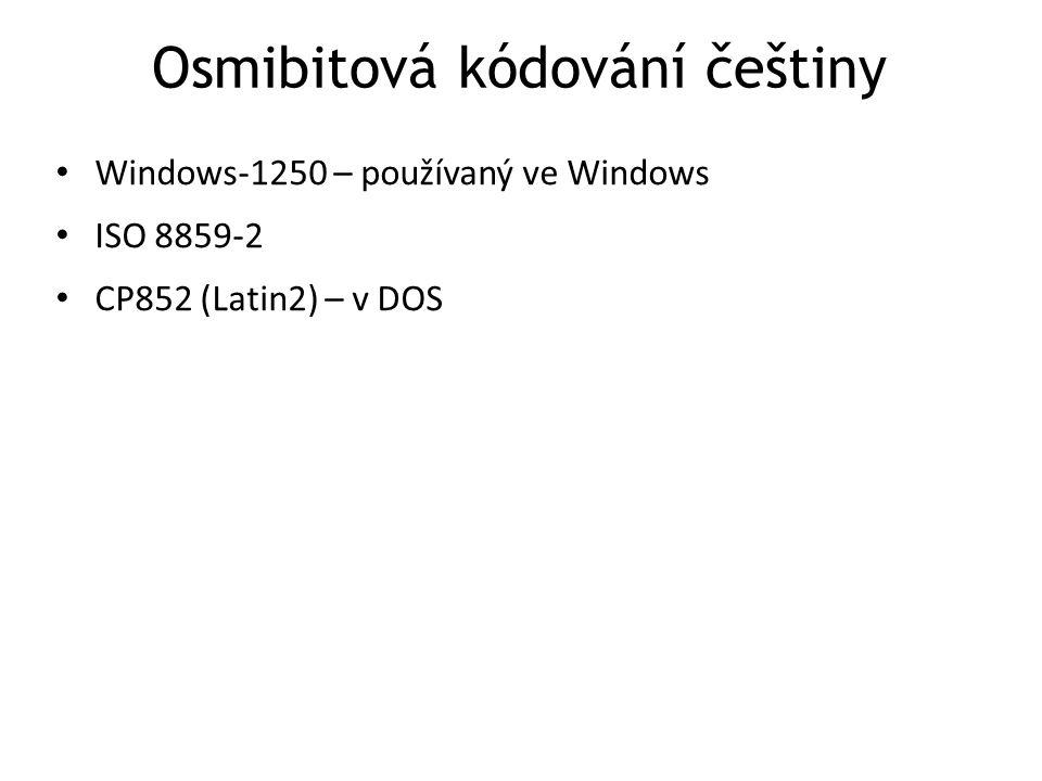 Osmibitová kódování češtiny