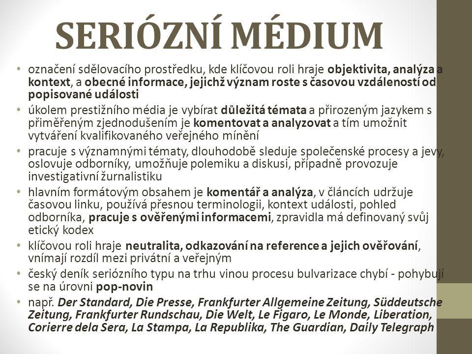 SERIÓZNÍ MÉDIUM