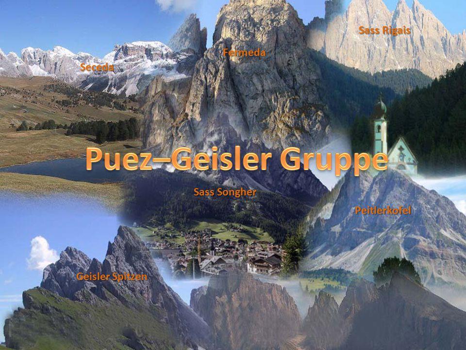 Puez–Geisler Gruppe Sass Rigais Fermeda Seceda Sass Songher
