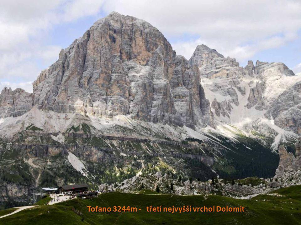 Tofano 3244m - třetí nejvyšší vrchol Dolomit
