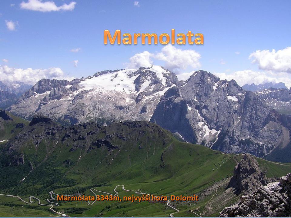 Marmolata Marmolata 3343m, nejvyšší hora Dolomit