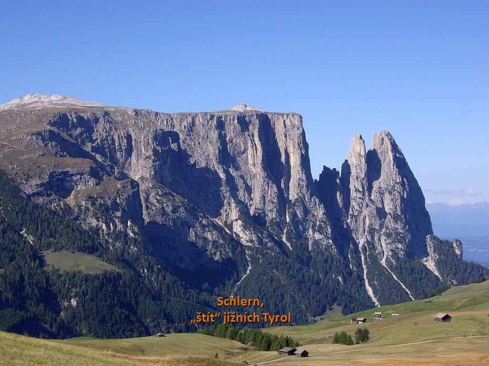"""Schlern, """"štít jižních Tyrol"""
