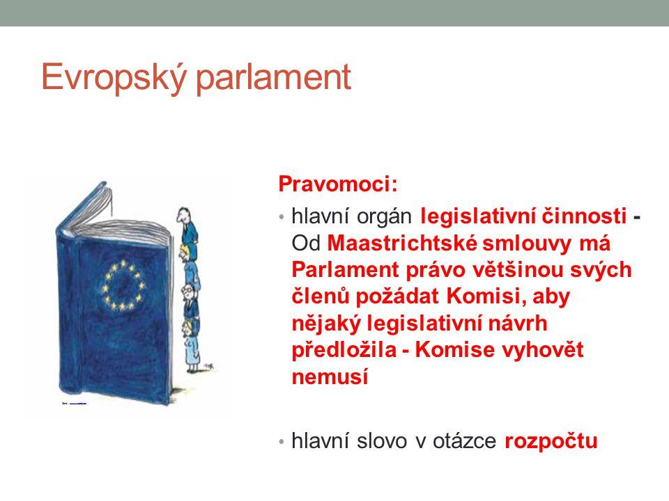 Evropský parlament Pravomoci: