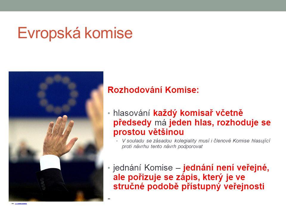 Evropská komise Rozhodování Komise: