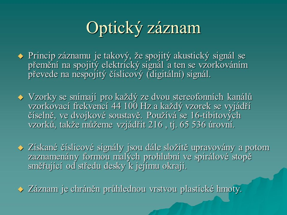 Optický záznam