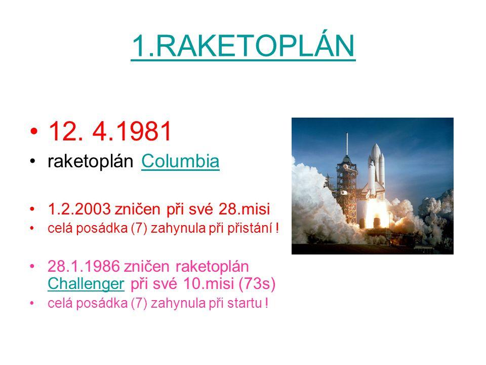 1.RAKETOPLÁN 12. 4.1981 raketoplán Columbia