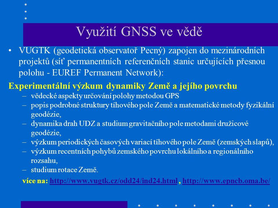 Využití GNSS ve vědě
