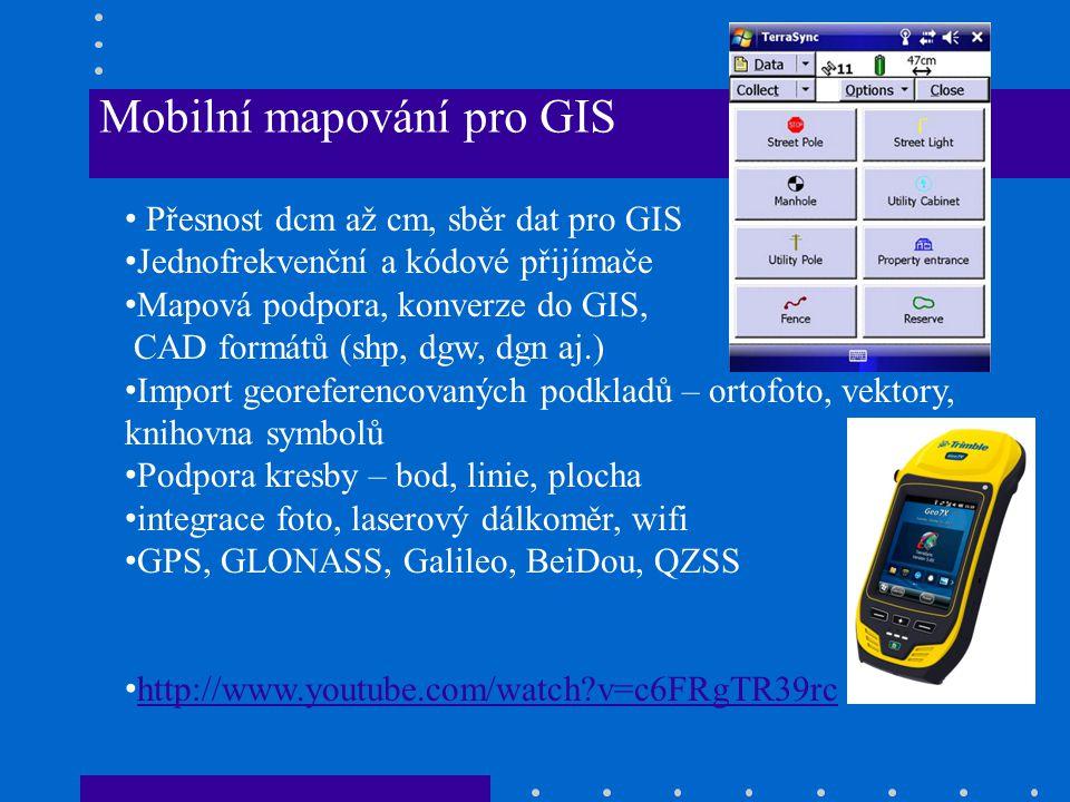 Mobilní mapování pro GIS