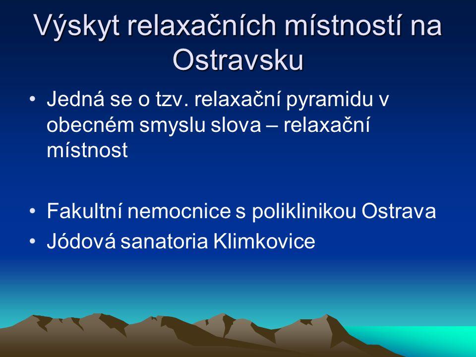 Výskyt relaxačních místností na Ostravsku