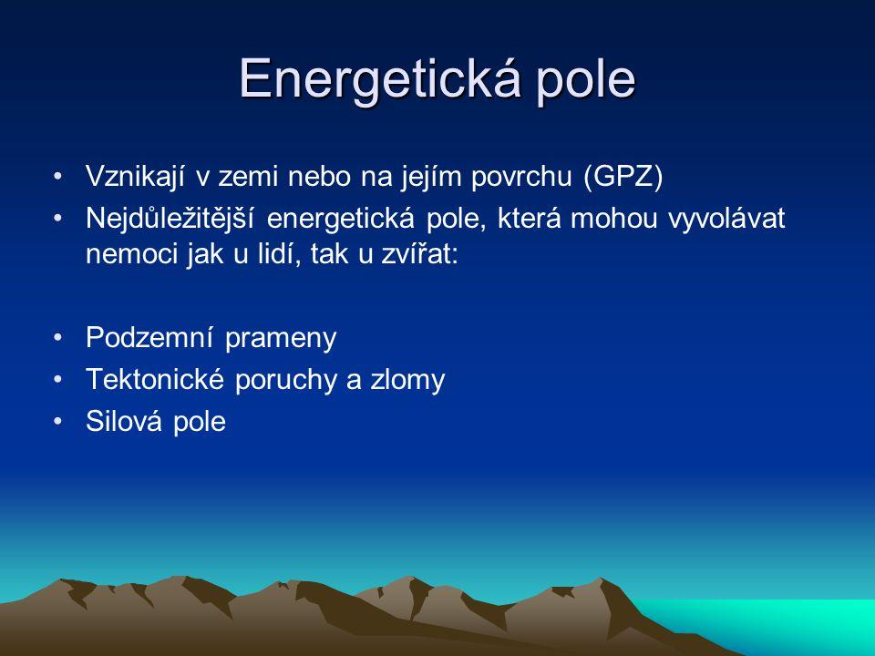Energetická pole Vznikají v zemi nebo na jejím povrchu (GPZ)