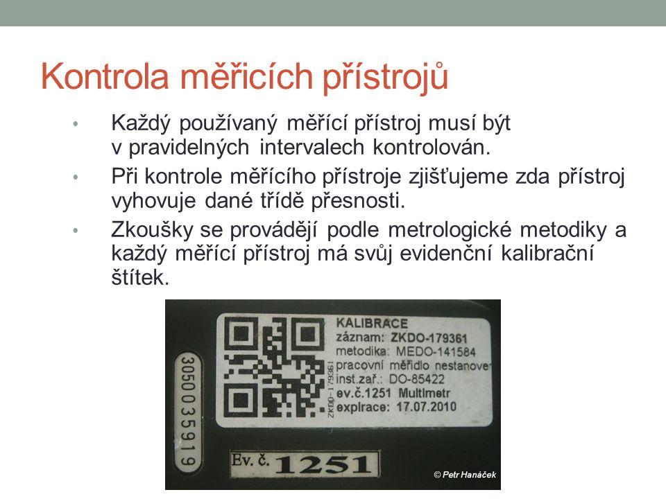 Kontrola měřicích přístrojů