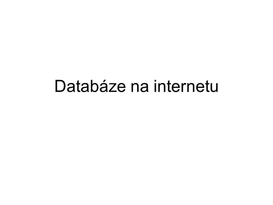 Databáze na internetu
