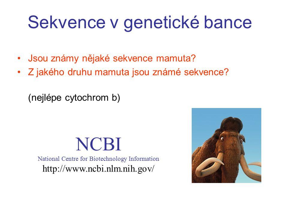 Sekvence v genetické bance