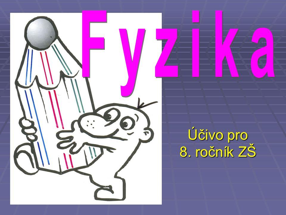 Fyzika Účivo pro 8. ročník ZŠ