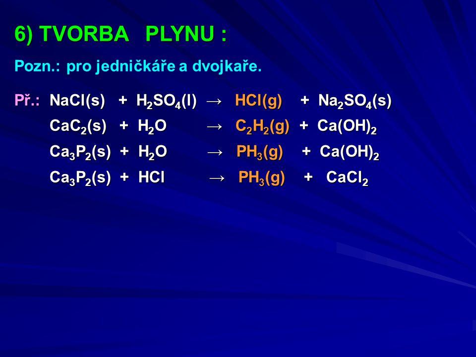 6) TVORBA PLYNU : Pozn.: pro jedničkáře a dvojkaře.