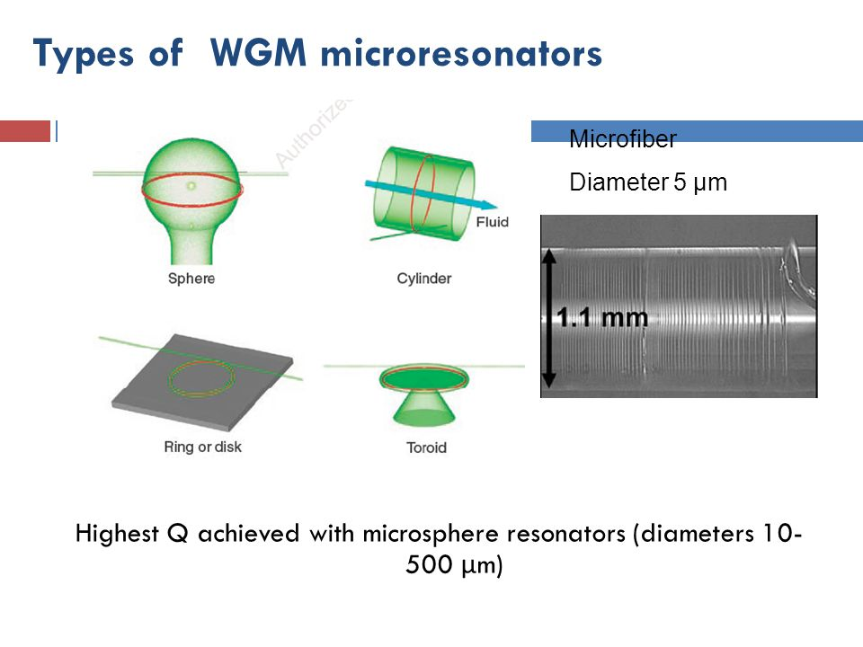 Types of WGM microresonators