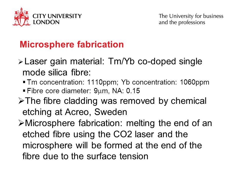 Microsphere fabrication