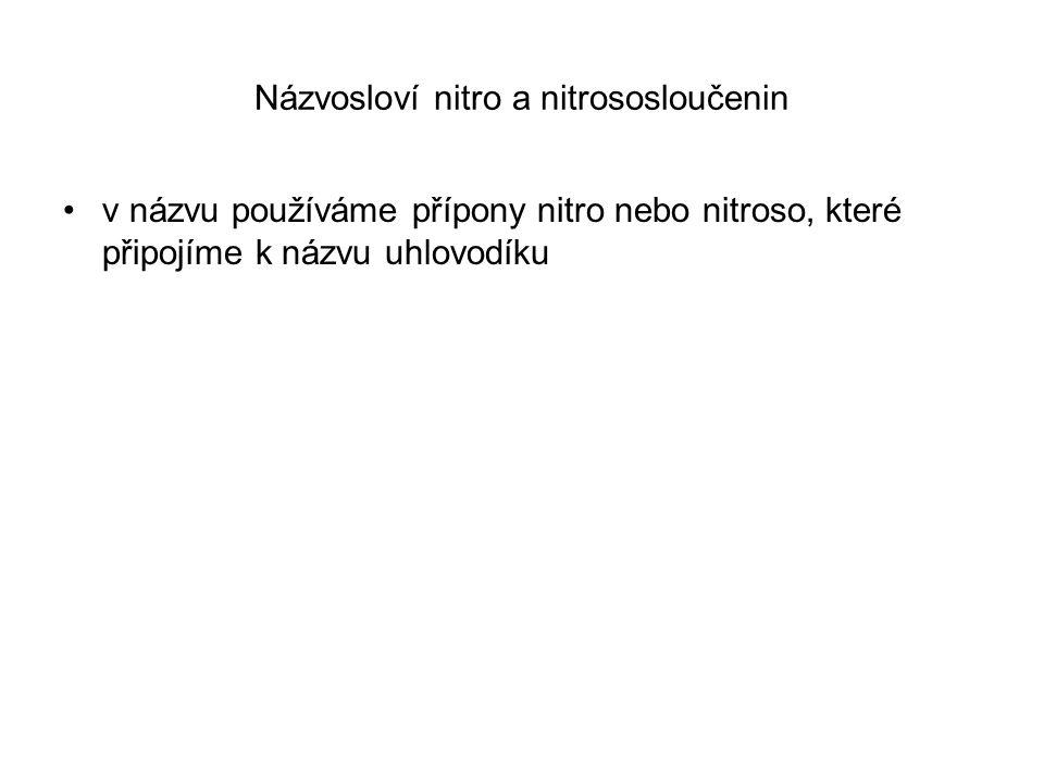 Názvosloví nitro a nitrososloučenin