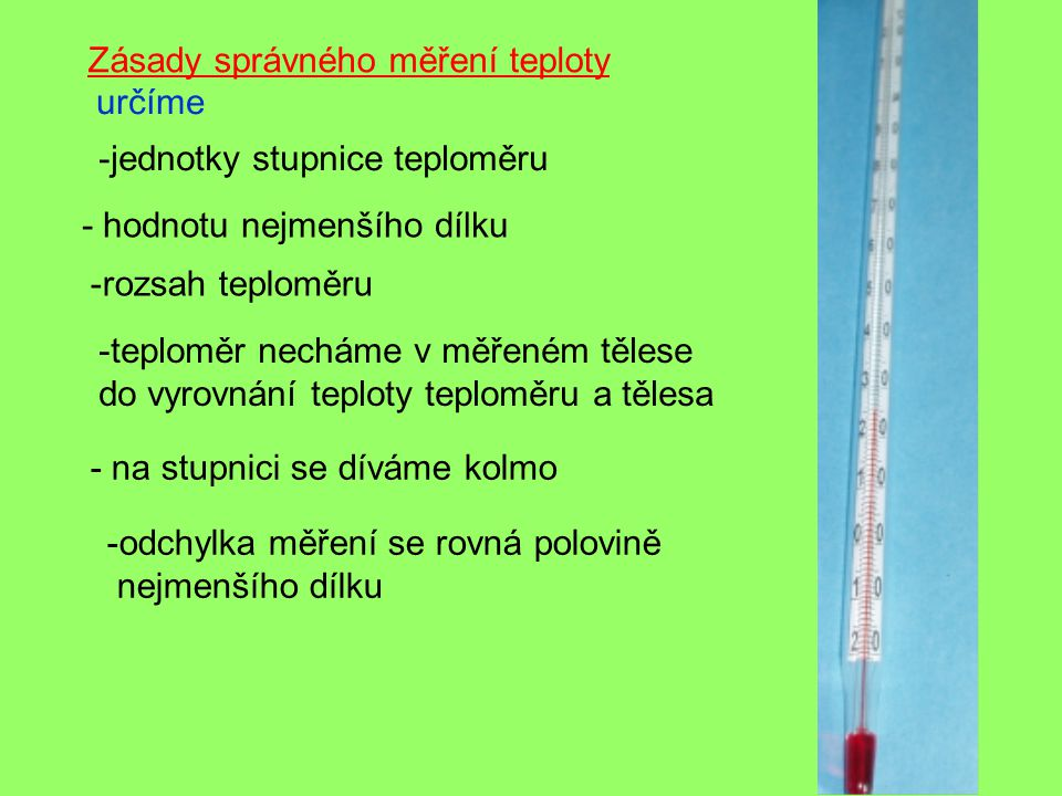 Zásady správného měření teploty