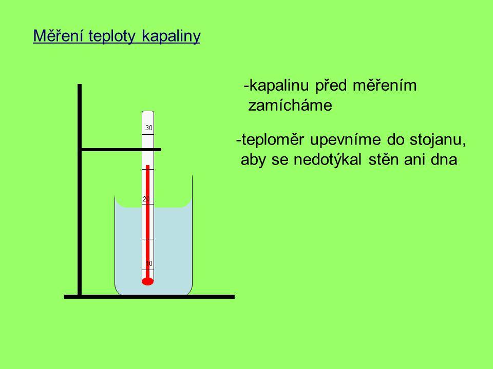 Měření teploty kapaliny