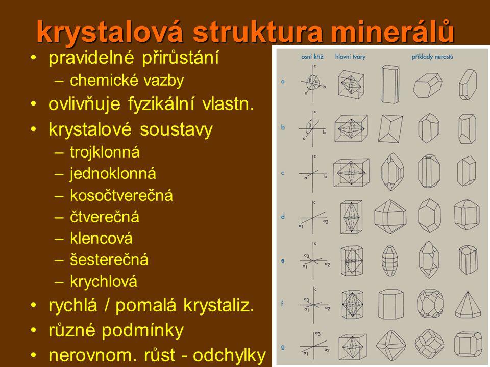 krystalová struktura minerálů