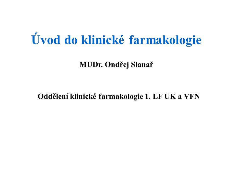 Úvod do klinické farmakologie