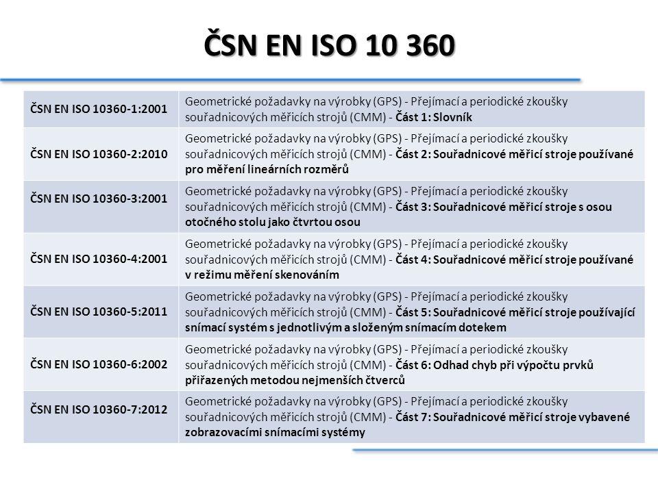 ČSN EN ISO 10 360 ČSN EN ISO 10360-1:2001.