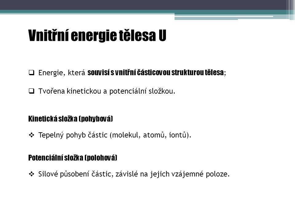 Vnitřní energie tělesa U