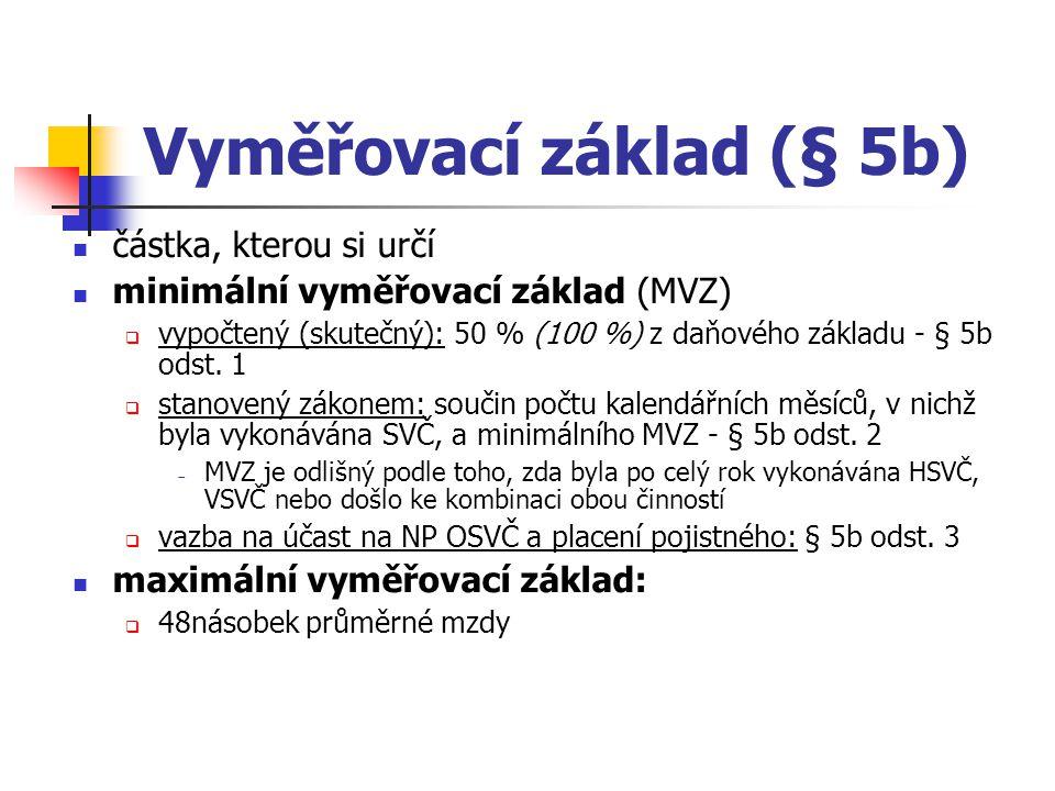 Vyměřovací základ (§ 5b)